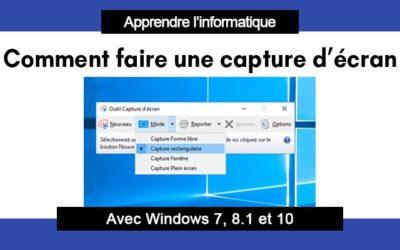 Comment faire une capture d écran sur ordinateur