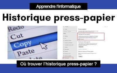 Windows 10 : comment accéder à l'historique du presse-papier